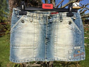 Abercrombie & Fitch Gonna di jeans blu acciaio-blu fiordaliso