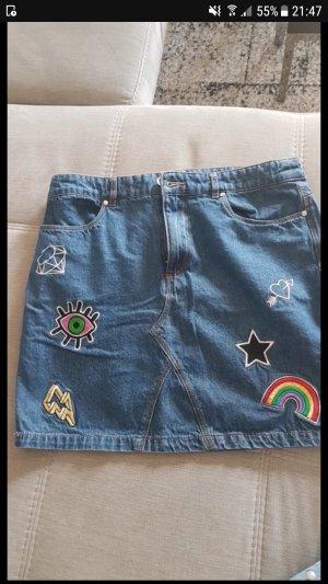 jeansrock minirock mit patches