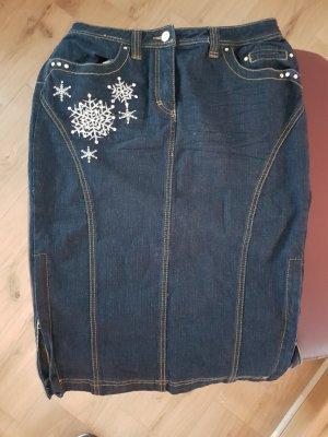 Apart Denim Skirt dark blue
