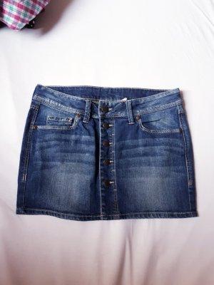 Mango Jupe en jeans bleu