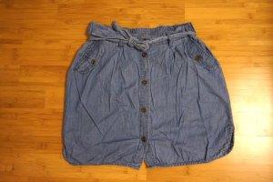 Jeansrock mit Knopfleiste und Gürtel