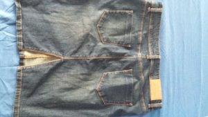 jeansrock mit Nieten