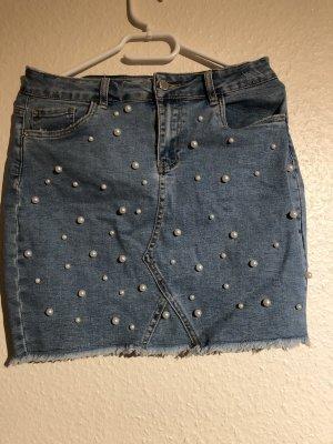 Amisu Gonna di jeans multicolore