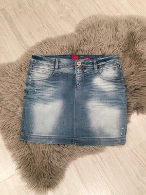 Jeansrock mit Waschung