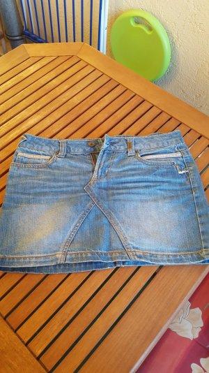 jeansrock only blau mit nieten