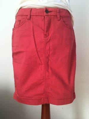 Esprit Jupe en jeans rouge clair coton