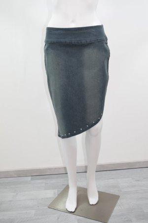 Falda vaqueras azul oscuro Algodón