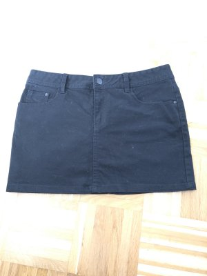 Jeansrock schwarz Gr. 40 H&M