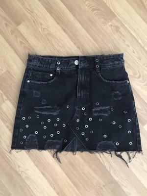 Zara Gonna di jeans nero-argento