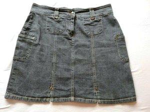Gonna di jeans nero Cotone
