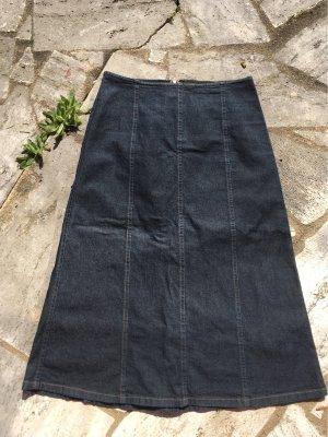 United Colors of Benetton Jupe en jeans bleu foncé tissu mixte