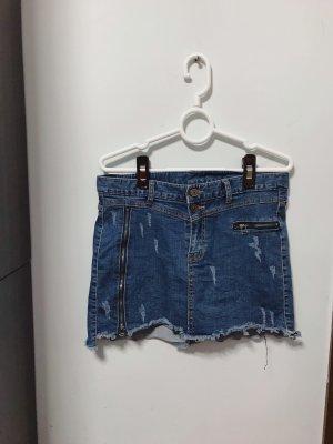 Jupe en jeans bleu