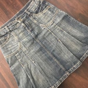 Vero Moda Denim Skirt azure-steel blue