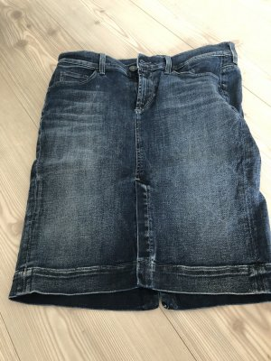 7 For All Mankind Spijkerrok blauw