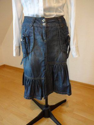 Bandolera Denim Skirt blue