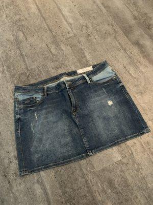 edc Denim Skirt steel blue-azure