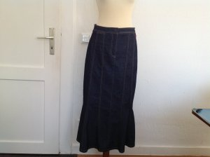 Hirsch Godet Skirt steel blue cotton