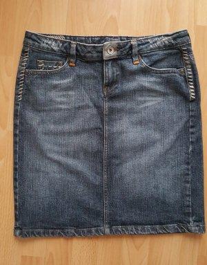 Mango Jupe en jeans bleu-bleu foncé