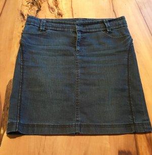 Marc Cain Denim Skirt steel blue cotton