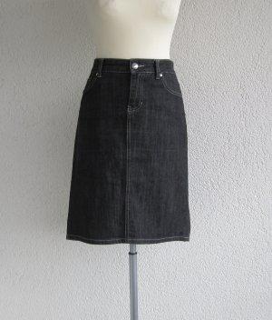 Jupe en jeans noir coton