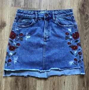 Zara Denim Skirt multicolored