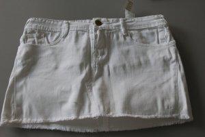 Abercrombie & Fitch Gonna di jeans bianco Cotone