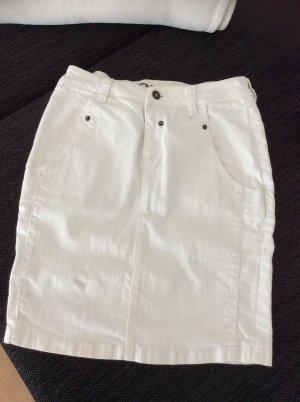 Raiden Jupe en jeans blanc tissu mixte