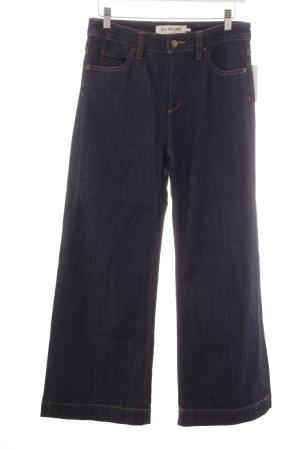 Jeans flare bleu foncé Aspect de jeans
