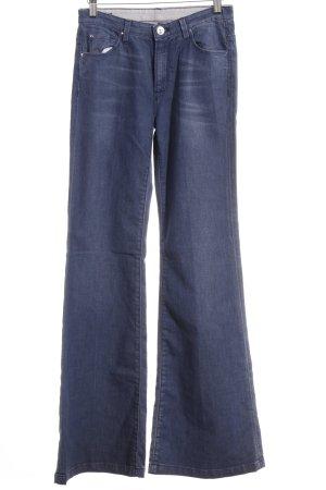 Jeansschlaghose graublau-blau Boho-Look