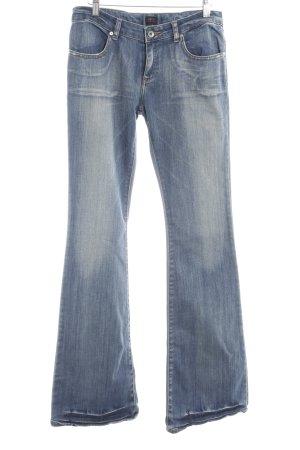 Jeansschlaghose stahlblau Vintage-Look