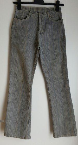 Jeansschlaghose Vintage Look Beige/Blau 90ies