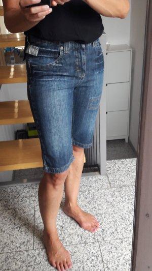 Heine Pantalón corto de tela vaquera azul acero