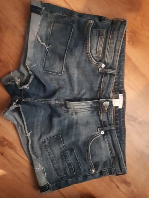 H&M Spijkershort grijs-donkerblauw