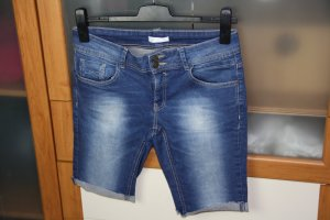 Promod Denim Shorts steel blue cotton