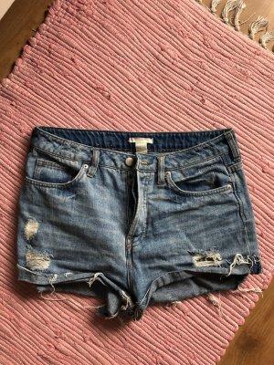 H&M Short en jean bleu-bleu azur