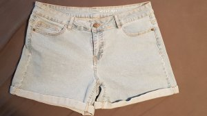 Noisy May Short en jean bleu clair