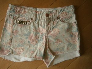 Jeansshort Blumeprint