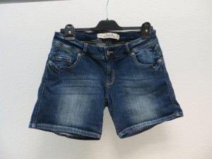 Multiblu Pantalón corto de tela vaquera azul oscuro Algodón