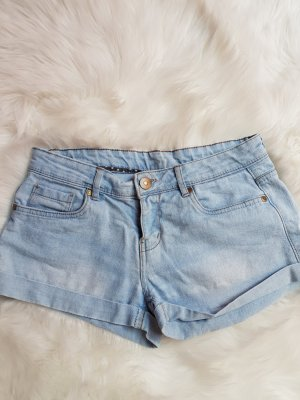 Denim Co. Short bleu azur coton