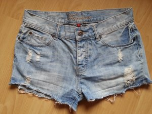 Jeansshort Größe S blau Used-Look