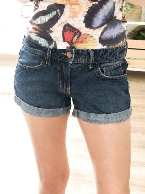 HM Pantalón corto de tela vaquera azul