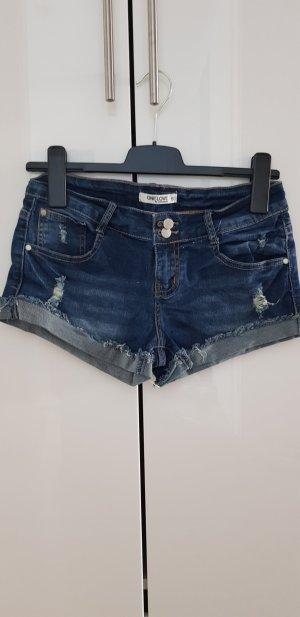 Denim Shorts dark blue cotton