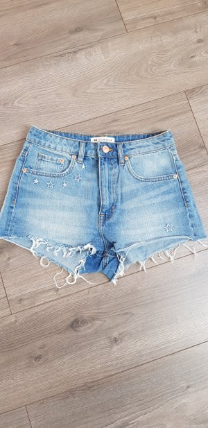 H&M Denim Shorts light blue-cornflower blue
