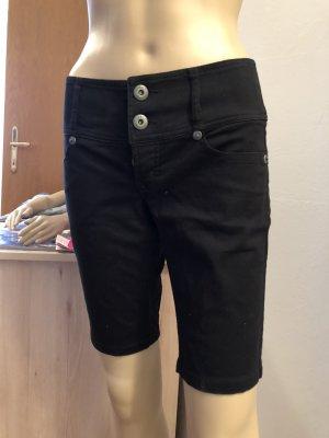 17&co Pantalón corto de tela vaquera negro