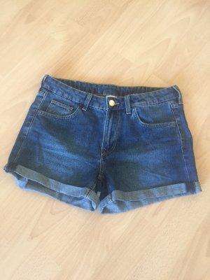 H&M Short en jean bleu foncé