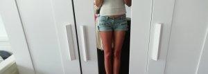 Tally Weijl Spijkershort leigrijs-lichtblauw