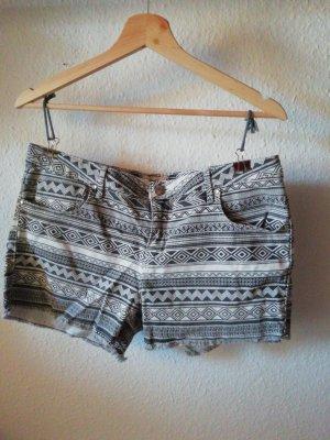 Pimkie Pantalón corto de tela vaquera blanco-gris antracita