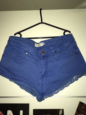 Voyelles Hot pants blu