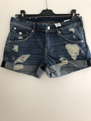 H&M Denim Shorts white-blue