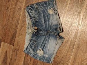 Urban Surface Pantalón corto de tela vaquera azul acero
